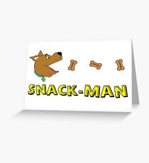 Pac-Man Scooby Doo Greeting Card