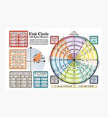 Unit Circle - Horizontal Version Photographic Print
