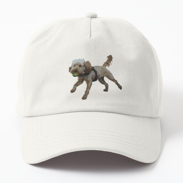 Dog with ball in mouth Dad Hat