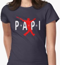 Big Papi Air Jordan Style Logo Womens Fitted T-Shirt