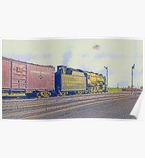 Pennsylvania Railroad 2-10-2, Angola NY, 1951 Poster