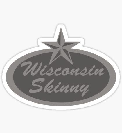 Wisconsin Skinny Shades of Gray  Sticker