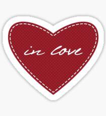 Love pattern. Valentine's Day.  Sticker