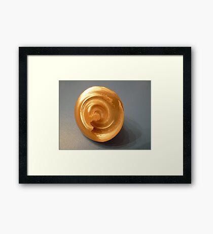 Bottom of a seashell Framed Print