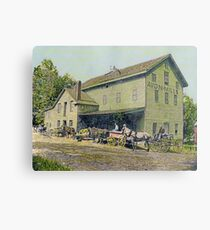 Wadsworth Mill - Avon NY, 1910 Metal Print