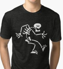 Naughty Skeleton Tri-blend T-Shirt