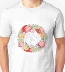 Thank You Thanksgiving Card Unisex T-Shirt
