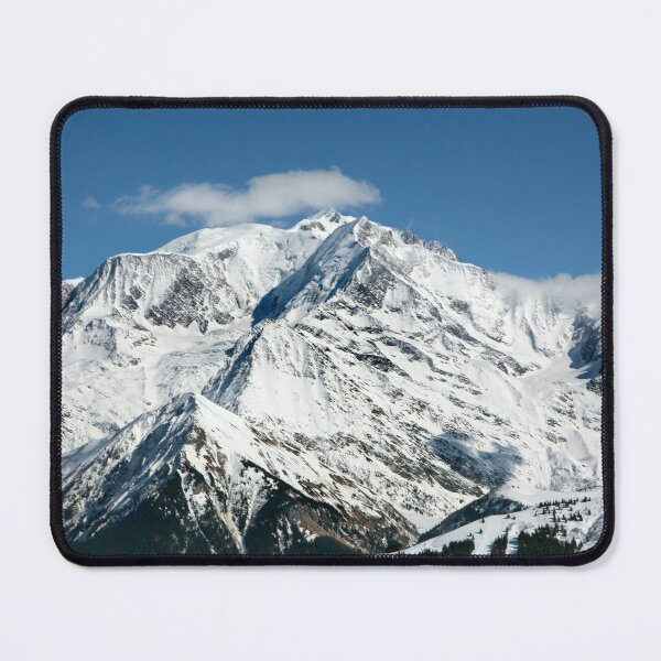 Mt. Blanc with clouds Mouse Pad