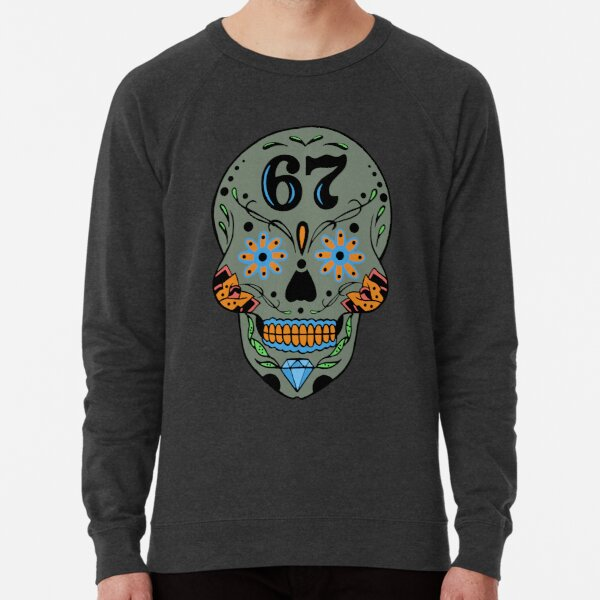 Sugar Skull 67 Grayish Lightweight Sweatshirt
