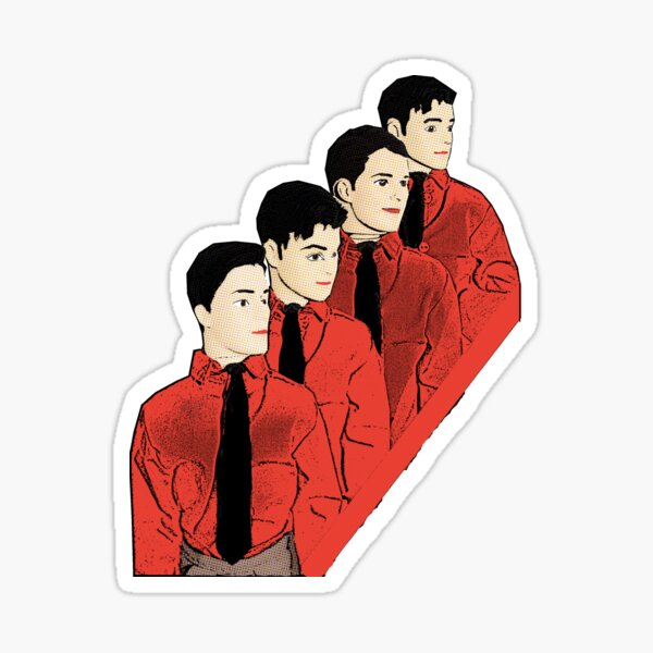 Kraftwerk! Cool Music Pop Art! Sticker