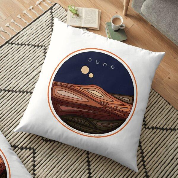 Orange Border Dune Arrakis Desert Planet Floor Pillow