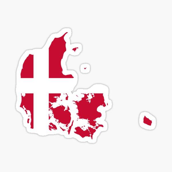 Dänemark-Flaggen-Karte Sticker