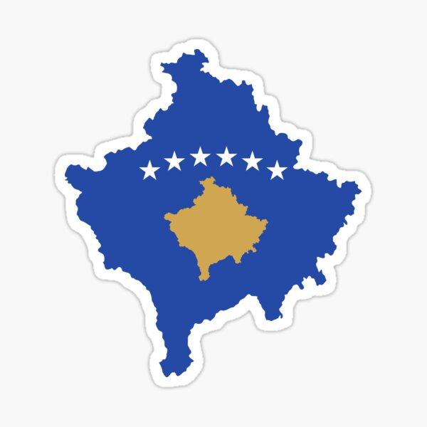 Kosovo-Flagge Karte Sticker