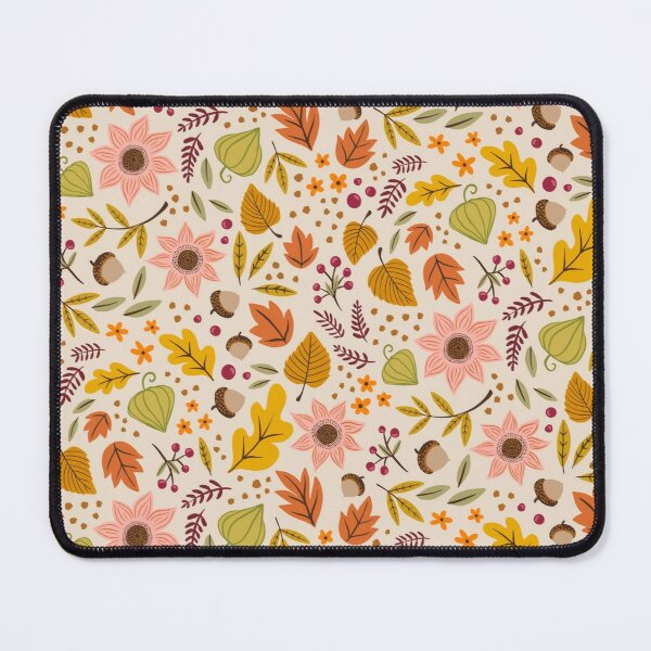 Autumn Floral, Light Mouse Pad