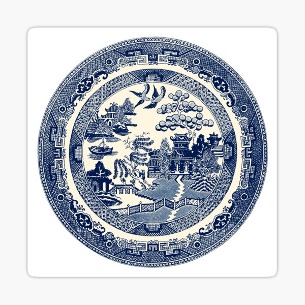China Blue Willow Sticker