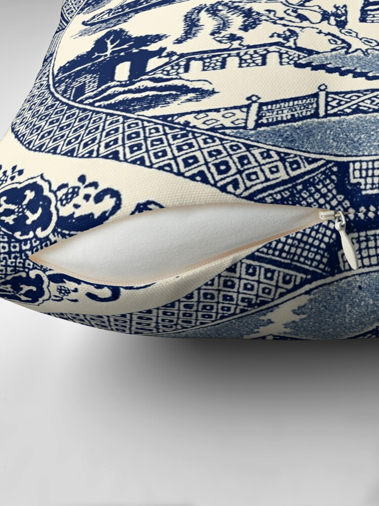 Alternate view of China Blue Willow Throw Pillow