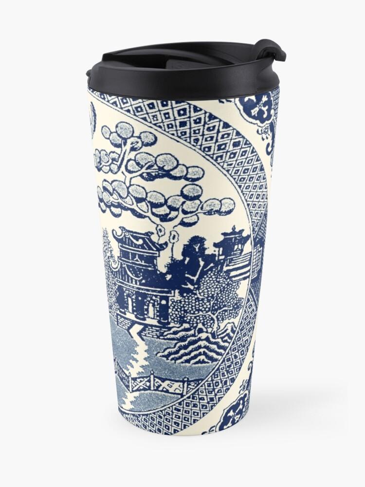 Alternate view of China Blue Willow Travel Mug