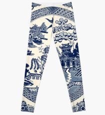 China Blue Willow Leggings