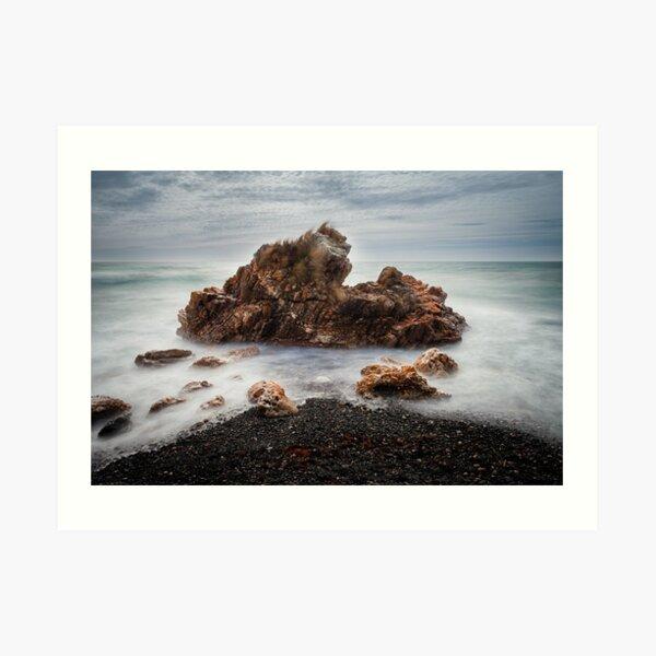 Rocks on a windy day, Boat Harbour, Tasmania Art Print