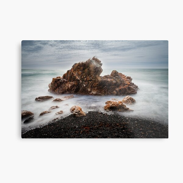 Rocks on a windy day, Boat Harbour, Tasmania Metal Print