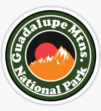 GUADALUPE MOUNTAINS NATIONAL PARK TEXAS Chihuahuan Desert MOUNTAINS Sticker