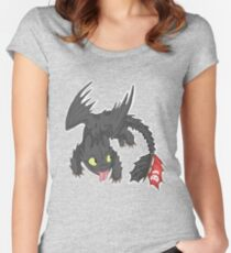 Toothless! Women's Fitted Scoop T-Shirt