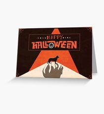 Hounds of Baskerville - Sherlock Halloween Card Greeting Card