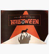 Hounds of Baskerville - Sherlock Halloween Card Poster