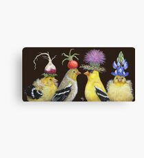 Goldfinch Family Canvas Print