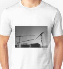 Construction cranes Unisex T-Shirt