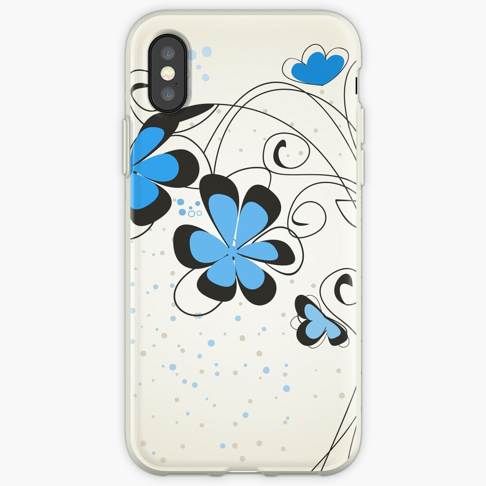Blue flower iPhone-Hüllen & Cover