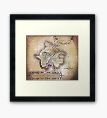 Klassische Neverland Map Blanket King Size Gerahmtes Wandbild