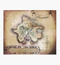 Classic Neverland Map Blanket King Size Photographic Print