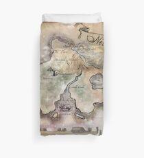 Klassische Neverland Map Blanket King Size Bettbezug