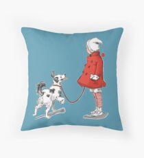 Little friends Throw Pillow