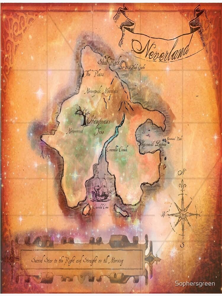 Mapa de Twin Size Neverland de Sophersgreen