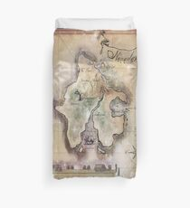 Twin size Classic Neverland Map Duvet Cover