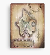 Twin size Classic Neverland Map Canvas Print
