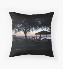 April Twilight in Florida Throw Pillow