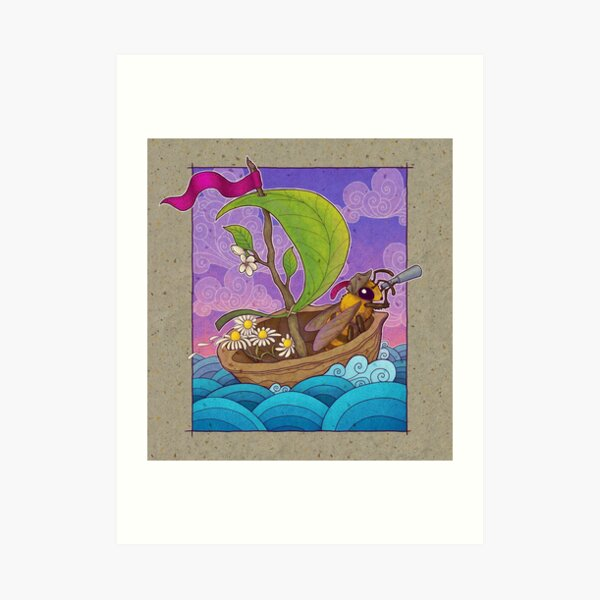 Honeybee Explorer and Walnut Ship Art Print