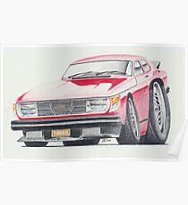 SAAB 99 Turbo by Glens Graphix Poster