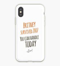 Britney Survived 2007 iPhone Case