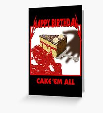 Cake Em All - Parody Greeting Card