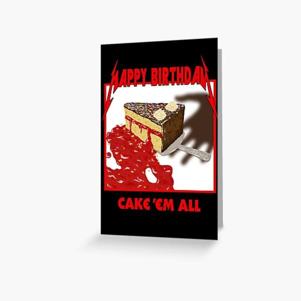 Cake Em All - Parodie Carte de vœux