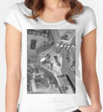 Escher's Asylum of the Daleks Women's Fitted Scoop T-Shirt