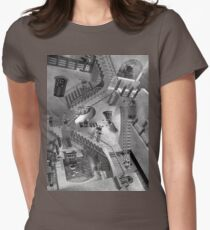 Escher's Asylum of the Daleks Womens Fitted T-Shirt