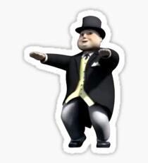 Sir Topham Hatt - Squatting Sticker Sticker