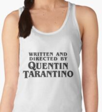 Written and Directed by Quentin Tarantino (dark) Women's Tank Top