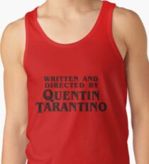 Written and Directed by Quentin Tarantino (dark) Men's Tank Top