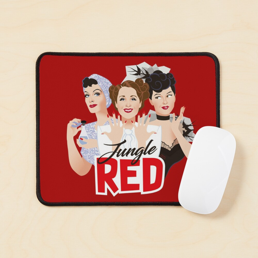 Jungle Red Mouse Pad